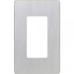 Claro Wall Plate - 1-Gang - Stainless Steel