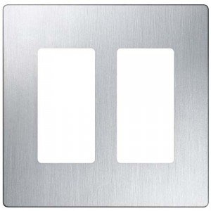 Claro Wall Plate - 2-Gang - Stainless Steel