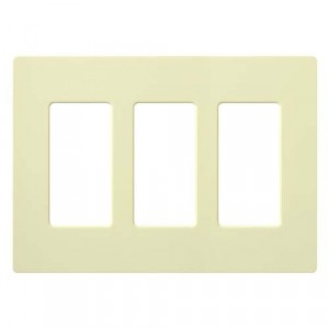 Claro Wall Plate - 3-Gang - Almond