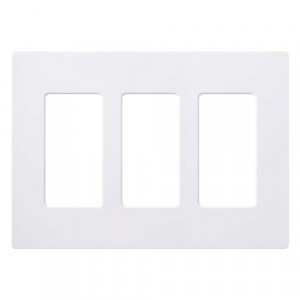 Claro Wall Plate - 3-Gang - White