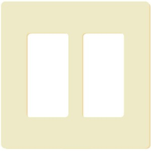 Decorator Wall Plate - 2-Gang - Ivory