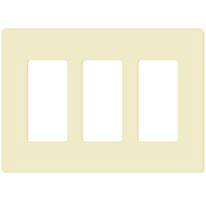Decorator Wall Plate - 3-Gang - Ivory