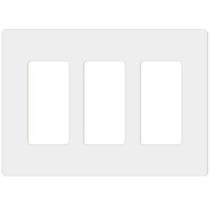 Decorator Wall Plate - 3-Gang - White