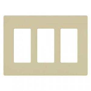 Claro Wall Plate - 3-Gang - Ivory