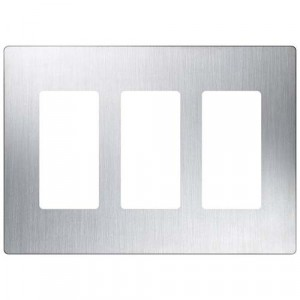 Claro Wall Plate - 3-Gang - Stainless Steel