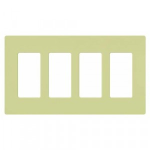 Claro Wall Plate - 4-Gang - Ivory