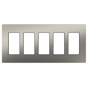 Claro Wall Plate - 5-Gang - Stainless Steel