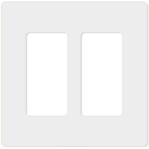 Decorator Wall Plate - 2-Gang - White