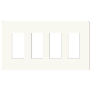 Decorator Wall Plate - 4-Gang - White